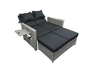 matodi roma poly rattan lounge sofa inklusive kissen gartenm bel sofa. Black Bedroom Furniture Sets. Home Design Ideas