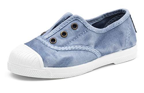Natural World Chaussures en Coton avec Fond de Caoutchouc Unisex 470E690 Céleste Taille: 23