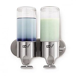 iZiv(TM Delicada Vida 500ml Soltero Dispensador de Jabón de Pared Liquido Dispenser Plástico ABS Acero Inoxidable