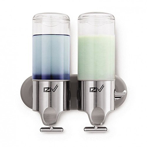 iZiv(TM Delicada Vida 1000ml Soltero Dispensador de Jabón de Pared Liquido Dispenser Plástico ABS Acero Inoxidable