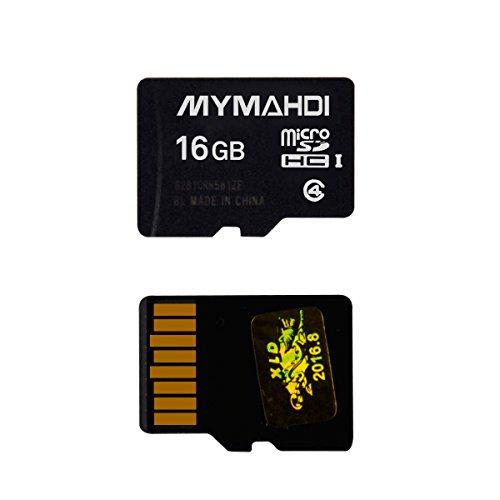 mymahdi 16GB 16G Micro SDHC Clase 4TF tarjeta de memoria con lector de tarjeta Micro SD–Bulk Paquete