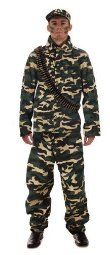 Armee Mens Kostüme (Erwachsene Armee Man Kostüm -)