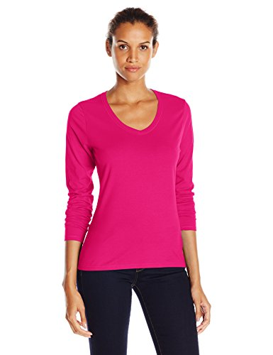 Hanes - Chemisier - Manches Longues Femme Sizzling Pink