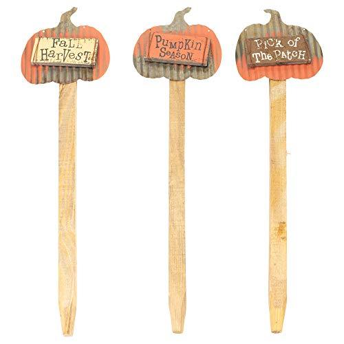 Season Fall Medley 23x 6Metall Schild aus Holz Ernte dem Spiel Set von 3 ()