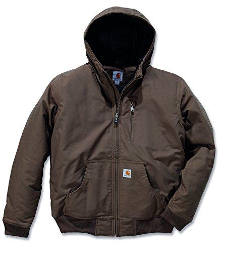 Carhartt 100001 Quick Duck Woodward Active Jacket - Wasserabweisende Arbeitsjacke, Canyon Brown, XXL Carhartt Sandstone Active Jacket