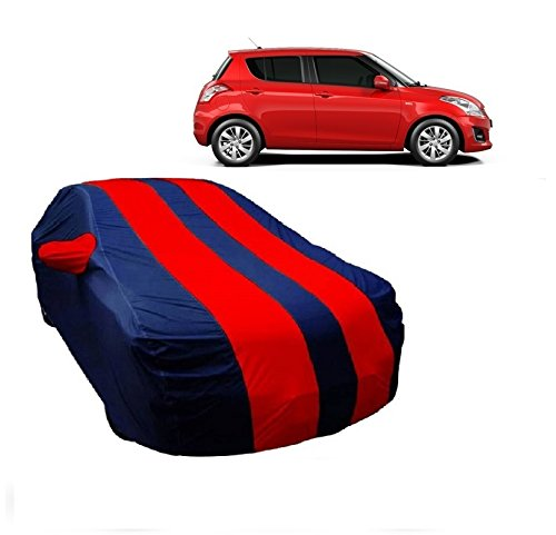 MotRoX Car Body Cover For Maruti Suzuki Swift with Side Mirror Pocket (Red & Blue)  available at amazon for Rs.899