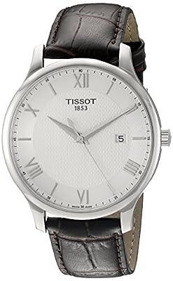 Tissot Reloj De Hombre Cuarzo Suizo Correa De Cuero Dial Plata T0636101603800
