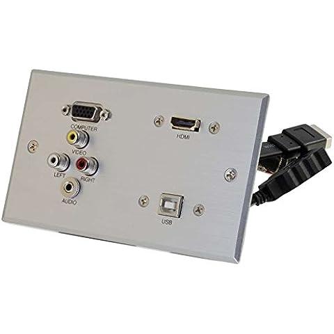 C2G RapidRun doppio integrato VGA (HD15, con jack 3,5 mm