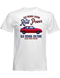 TEESANDENGINES Renault 11 Turbo Camiseta Blanca para Hombre de Algodon