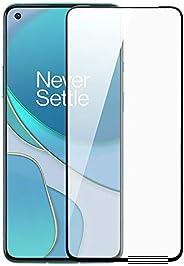 واقي شاشة وان بلس 8T، واقي الشاشة من وان بلس 8T من الحافة إلى الحافة ثلاثية الأبعاد من الزجاج المقوى الأسود