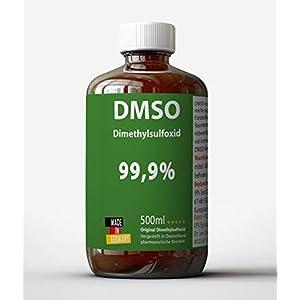 DMSO 500ml 99,9% pharmazeutische Reinheit – in medizinischer Braunglasflasche (lichtgeschützt) – DMSO 500ml unverdünnt – flüssig – Pure DMSO aus Deutschland