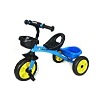 CHILDS PEDAL TRIKE - Blue - Adjustable Seat Front & Rear Baskets 2 - 5 Years **F12 TRIKE BLUE (Sapphire)**