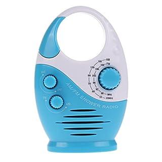 Wasserdichtes Badezimmer-Radio von amazingdeal Mini-Radio, AM/FM, Duschradio, zum Aufhängen, mit integriertem Lautsprecher (blau)