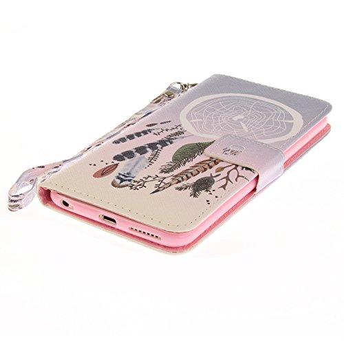 iPhone 6 Plus Hülle, iPhone 6S Plus Hülle, iPhone 6 Plus/ 6S Plus Lederhülle, iPhone 6 Plus / iPhone 6S Plus Brieftasche, BONROY Tier Muster Niedlich Komisch Ledertasche Handyhülle Kunstleder Tasche W Farbe Campanula