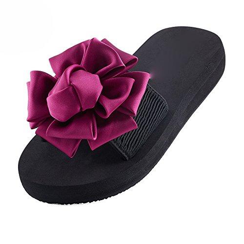 HGTYU-La fine dell'estate asolati e spesse senza slittamento fiori a mano i pendii con Cool pantofole e indossare la versione coreana di scarpe da spiaggia 37 39
