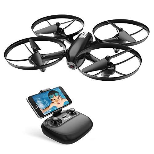 Potensic Drone con Cámara HD 720P, RC FPV Dron Cuadricóptero WiFi, Quadcopter con Camera y Vídeo en Tiempo Real, para Niños y Principantes, Mantenimiento de Altitud, Modo sin Cabeza, etc, U47 Mejorado