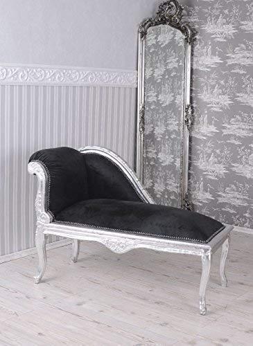 Rokoko Sitzbank Recamiere Schwarz Sofa Chaiselongue Barock Palazzo Exclusiv