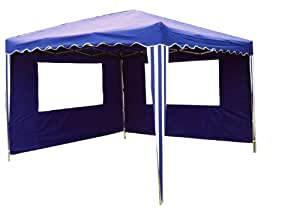 2 Seitenteile für 3x3m Falt Pavillon Faltpavillon blau