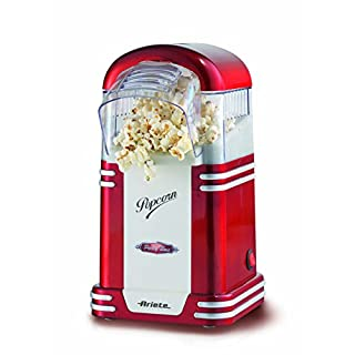 Ariete 00C295400AR0 2954 Party Time Popcorn Maker im Retrostil der 50-er Jahre, 1100 W, rot