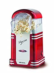 Idea Regalo - Ariete Popcorn Popper Party Time Macchina per Pop-Corn Senza Olio e Grassi, Plastica, 1.100 watt, Rosso