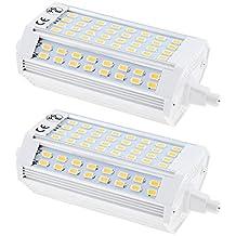Bonlux 2-pack 25W R7s LED Proyector bombilla 118MM cálido blanco 3000K 200 grados doble terminó J118 R7s LED lámpara 200W halógeno de repuesto (no regulable)