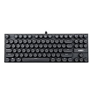 AUKEY Tastiera Meccanica Tastiera Gaming Keyboard per PC, Impermeabile, Anti-ghosting per Windows e Mac OS X