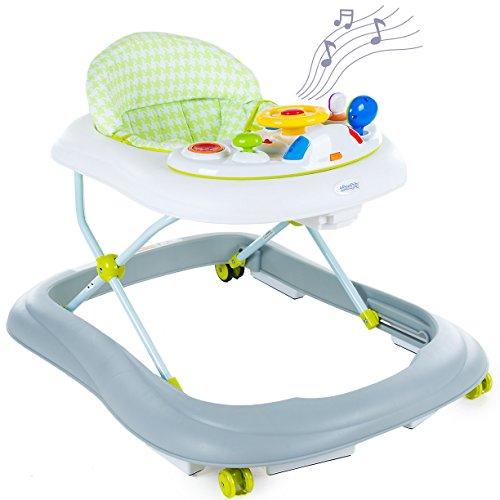 Lauflernhilfe Gehfrei Gehhilfe Laufhilfe Baby Walker Babyschaukel Babywippe NEU KP1005 Gehhilfe Baby Walker NEU (KP1005GRNWHT)