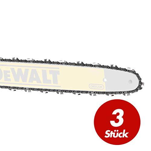 DeWALT Sägekette für Akku-Kettensäge FlexVolt DT2066_ DT20663-QZ, DT20664-QZ - verschiedene Längen - VPE 3 Stück, Größe:40 cm