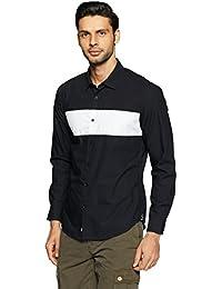 Indigo Nation Men's Solid Slim Fit Cotton Casual Shirt