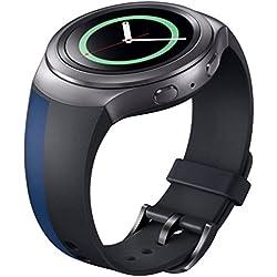 Ularma Silicone Watch Band Strap For Samsung Galaxy Gear S2 SM-R720 Black