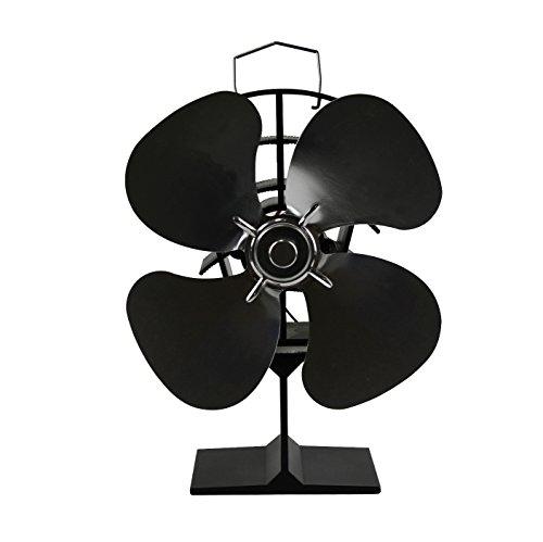 Newmeil Hitze Powered Ofen Fan Stromloser Ventilator für Holzöfen Kamin Hitzebeständig Umweltfreundlich, 4 Flügeln