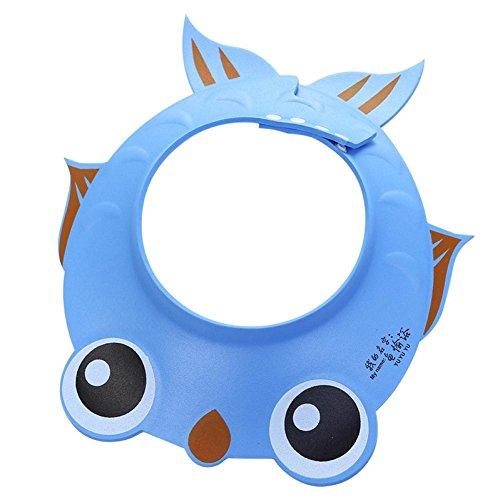 happy event Einstellbare Baby Dusche Hut Baby Bad Shampoo Dusche Badekappe Waschen Haar Schild Direkt Visier Caps für Baby Care (Blau)