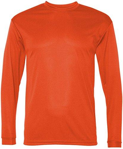 C2 Sport Pour homme 100% Poly Performance T-shirt à manches longues orange brûlé