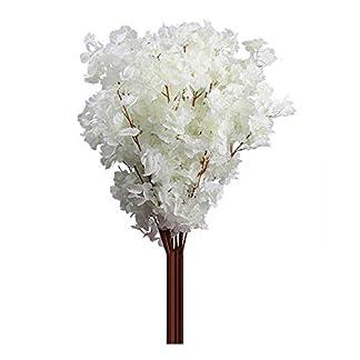 Amesii 1pc 3ramas cerezo Artificial ramo de flores boda decoración para el hogar