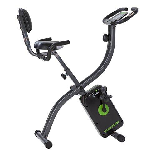 Tunturi Cardio Fit B25 X bike heimtrainer fahrrad klappbar / Fitnessfahrrad / hometrainer fahrrad trainer mit Rückenlehne +Tablethalterung und LCD-Bildschirmanzeige - Schwarz
