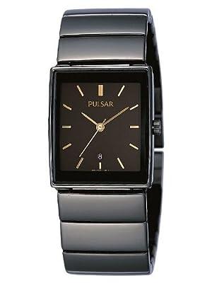 Pulsar Modern PXQ537X1 - Reloj de caballero de cuarzo, correa de acero inoxidable color negro de Pulsar