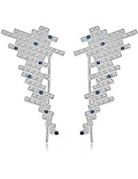 Charlotte Valkeniers  -  925 Sterling-Silber  Silber Rundschliff   blau Cristal