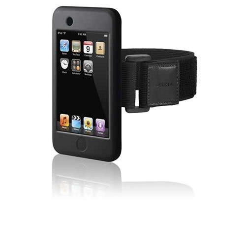 Belkin iPod Touch Silicone Sleeve mit Armband schwarz (Ipod Running Sleeve)