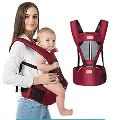 Baby Carrier with Hip Seat for Newborn Infant and Toddler, Ergonomic Baby Wrap Carrier Hipseat Backpack