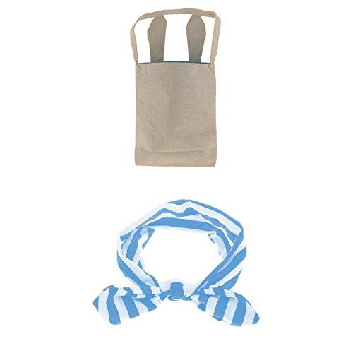 MagiDeal Ostern Taschen Körbe Beutel Tüten Geschenk Tasche DIY Ostereier Verpackung mit Strinband für Mädchen