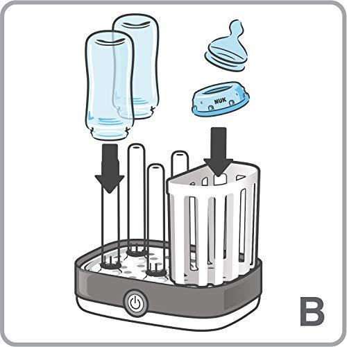 NUK Vario Express Dampf-Sterilisator für bis zu 6 Babyflaschen, Sauger & Zubehör - 7