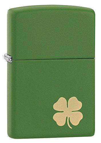 zippo-briquet-shamrock-green-clover-lucky-charm-verte