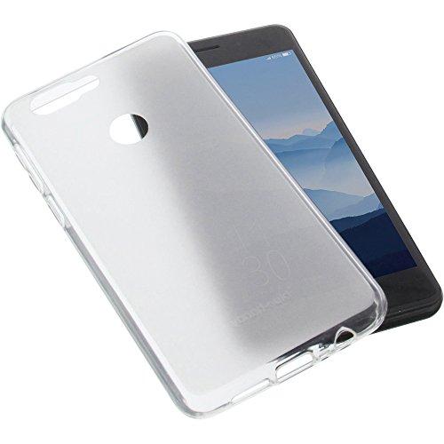 foto-kontor Tasche für Elephone P8 Mini Gummi TPU Schutz Handytasche transparent weiß