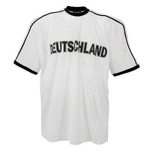 Lavecchia Herren Deutschland T-Shirt Kurzarm in Übergröße 3XL bis 8XL Weiss: 5XL