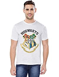 The Souled Store HARRY POTTER: Hogwarts Sigil Movie Graphic Printed Cotton T-shirt for Men Women and Girls