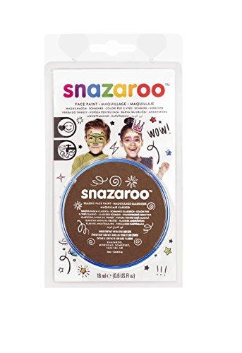 Snazaroo - Pintura facial (18 ml), color marrón claro