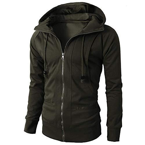 Beonzale Mode Herren Herbst Winter Langarm Sport Reißverschluss Hoodie Sportswear Sweatshirt Pullover Top Bluse Jacke Mantel Mit Kapuze