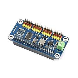 Waveshare Servo Driver HAT for Raspberry Pi/Jetson Nano 16-Channel 2-bit I2C Interface PCA9685 Driver Supports Servo Such as SG90, MG90S, MG996R, etc