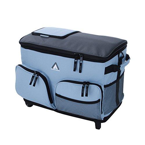 10T Fridgo Bag 50L Trolley Kühltasche große passive Thermotasche Kühlbox mit Rädern & Schultergurt
