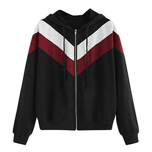 6221a4760 NINGSANJIN Sweate à Capuche Femme Printemps Automne Hoodies Sweat-Shirt  Manches Longues à Capuche Vestes